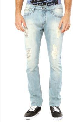 Calça Jeans Triton Skinny Straight Gilson Azul
