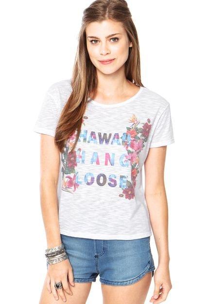 Camiseta Hang Loose Hawai Summer Branca
