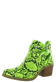 Botín Animal Print Verde Danicolle