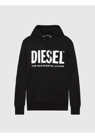 Poleron S Gir Hood Division Logo Sweat Shirt Negro Diesel
