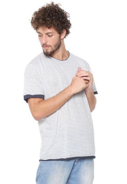 Camiseta Triton Listrada Cinza