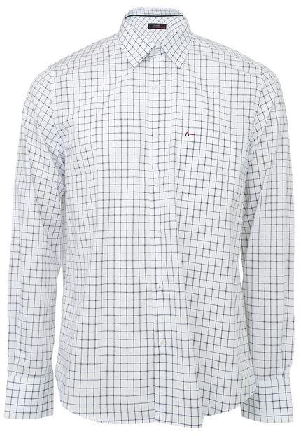 Camisa Aramis Reta Padronagens Branca