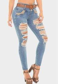 Jeans Levanta Cola Azul Claro Cheviotto