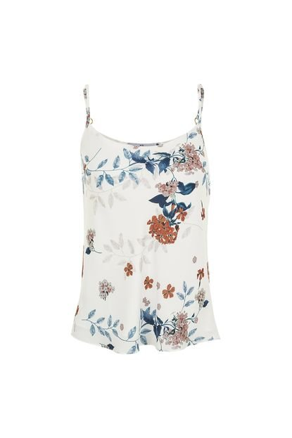 MX Fashion Regata Estampada MX Fashion Flor de Liz Off White wdd3g