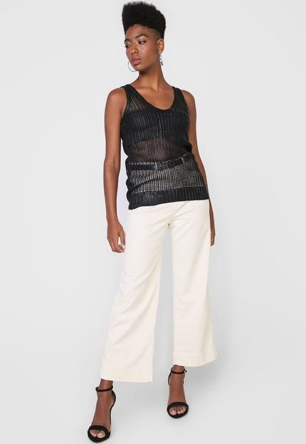 Calvin Klein Jeans Regata Calvin Klein Jeans Tricot Resinada Preta