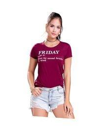 Camiseta Juvenil Femenino Vinotinto Atypical