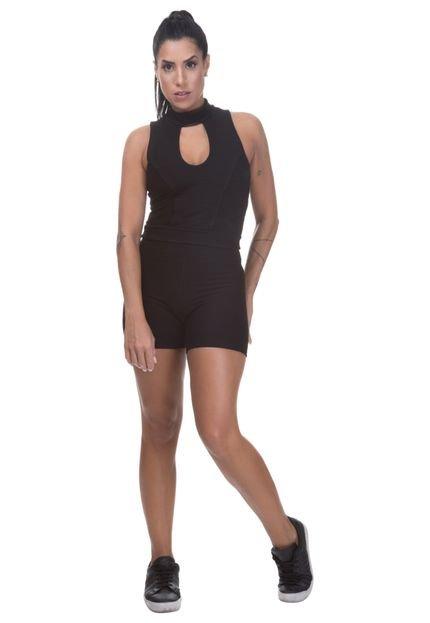 Miss Blessed Short Bandagem Miss Blessed Premium Preto MAKwI