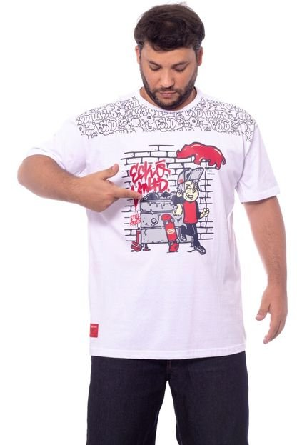 Camiseta Ecko Estampada Branca