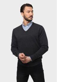 Sweater Cuello En V Carbón Arrow