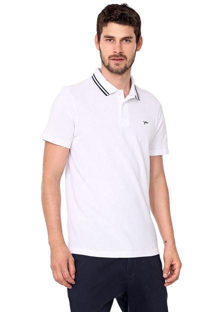 Camisa Polo Yachtsman Reta Frisos Branca