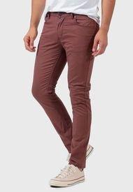Jeans Wrangler Larston Burdeo - Calce Ajustado