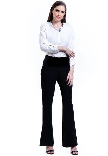 101 Resort Wear Camisa 101 Resort Wear Viscose Polo Branco Off