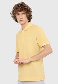 Polo Amarillo-Blanco Lacoste