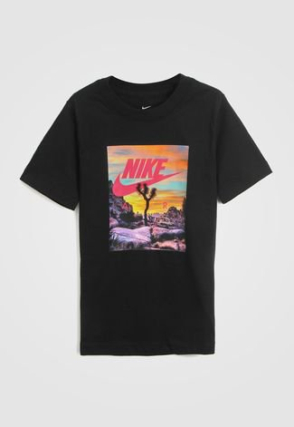 Emperador Margaret Mitchell Fracaso  Camiseta Nike Infantil Estampada Preta - Compre Agora | Dafiti Brasil