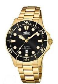 Reloj Crono Deportivo  Negro Lotus