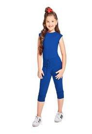 Enterizo Largo Infantil Femenino Azul Rey Marketing  Personal
