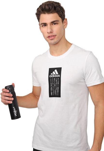 Camiseta adidas Performance Universal Split Branca