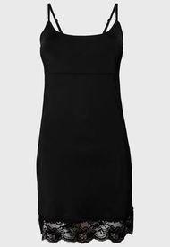Enagua Lady Genny Microfibra Con Encaje Negro - Calce Regular