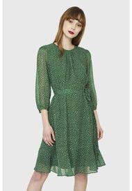 Vestido Pétalos Lazo Verde Nicopoly
