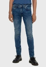 Jeans Only & Sons ONSWARP LIFE BLUE WASHED PK 3620 NOOS Azul - Calce Skinny