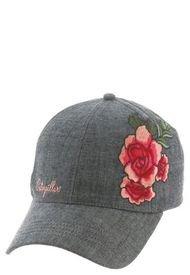 Jockey Mujer Rose Patch Hat Gris Cat