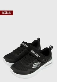 Tenis Lifestyle Negro-Blaco Skechers Kids Microspec Max