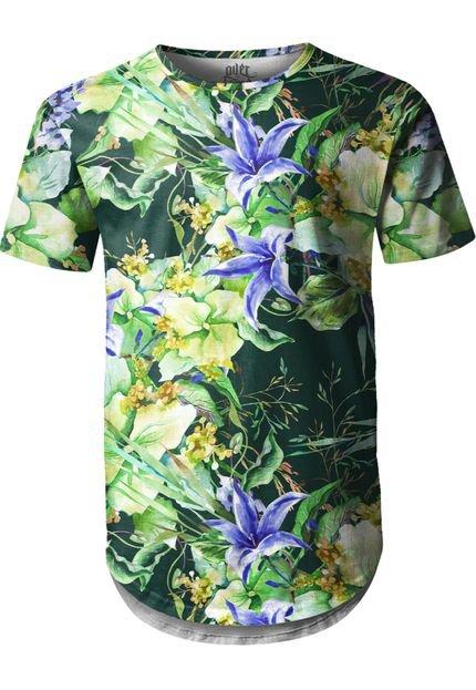 Camiseta Longline Over Fame Floral