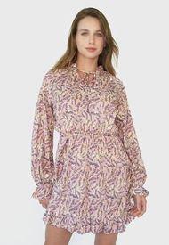 Vestido MISSGUIDED Corto Rosa - Calce Regular