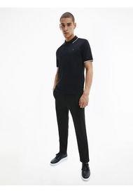 Polo Stretch Tipping Negro Calvin Klein