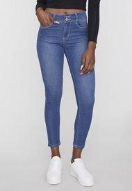 Jeans High Waist Push Up 2 Botones Azul Oscuro  Corona