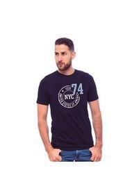 Denver Camiseta Para Hombre Manga Corta Cuello Redondo Con Estampado En Delantero