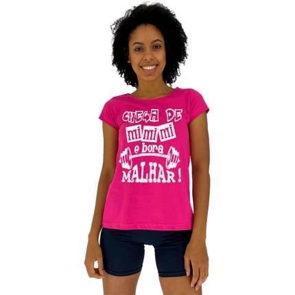 Alto Conceito Camisa Babylook Alto Conceito Chega De Mi Mi Mi E Bora Malhar Rosa Pink TNmh4