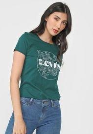 Camiseta Verde-Blanco Levi's