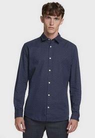Camisa Jack & Jones Azul - Calce Regular