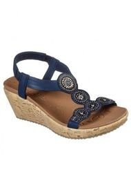 Sandalia Beverlee Date Glam Azul Skechers