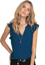 Blusa Para Mujer Azul Petroleo Oscuro Rutta