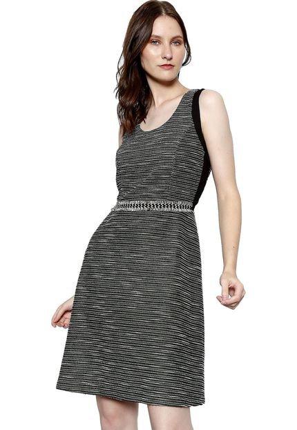 Energia Vestido Tweed Malha Energia Fashion Chumbo aYEUw
