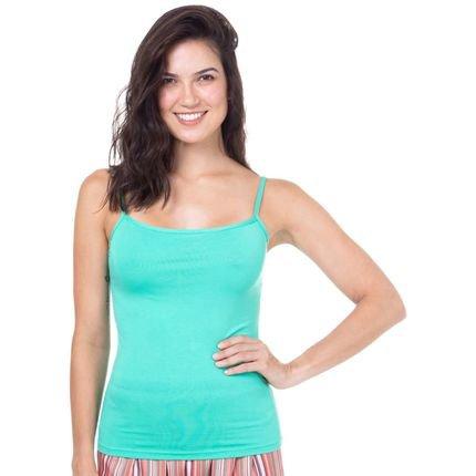 Marcyn Lingerie Camiseta Regata Homewear Verde - 589.0720 Marcyn Lingerie PIJAMAS Verde UZhdH
