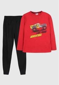 Pijama LL Niño Adventure Cars Rojo Disney