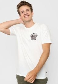 Remera Blanca Quiksilver Different Sides