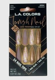 "Kit De Uñas Press On Con Diseño ""Lavish Nail Grandeur"" L.A Colors"