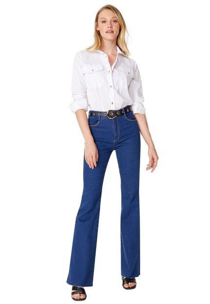 AMARO Calça AMARO Jeans Flare Pences Azul Escuro GCMbH