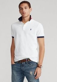 Polo Blanco-Azul Polo Ralph Lauren