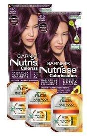 Pack Coloracion 416 Nutrisse + 3 Hair Food Sachet Garnier