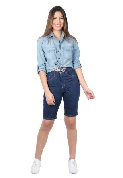 Latifundio Bermuda Latifundio Jeans Tradicional Escura SZXpY