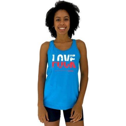 Alto Conceito Regata Feminina Alto Conceito Love F*** Azul Piscina PFDFt