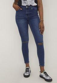 Jeans Skinny Destroyed Azul Oscuro Corona