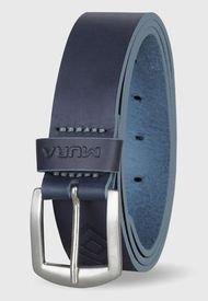 Cinturón Cuero Genuino Neko Azul Océano Miura