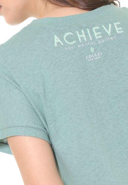 Colcci Camiseta Colcci Lettering Verde