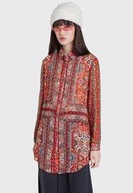 Blusa Desigual Multicolor - Calce Holgado
